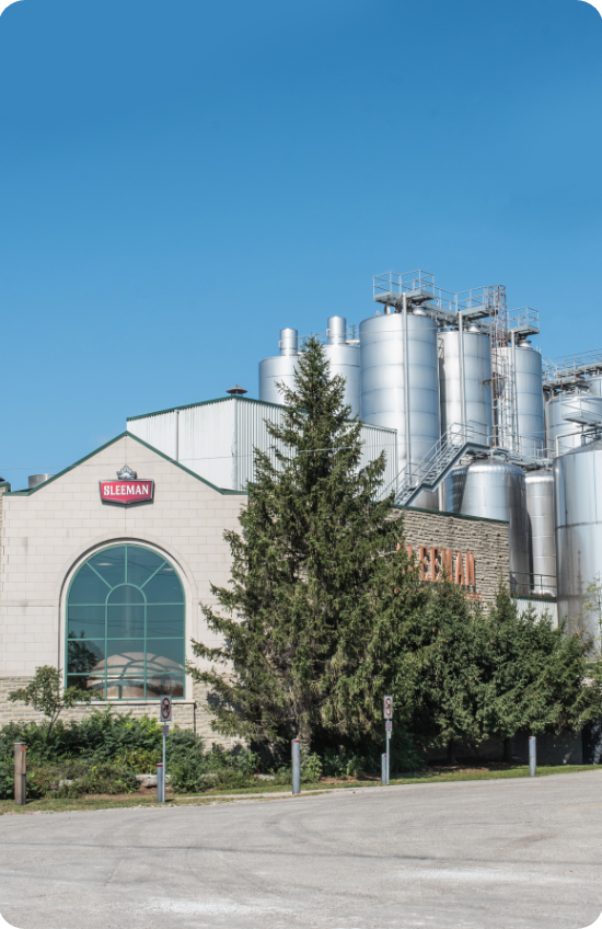 Picture of the South End neighbourhood in Guelph, focusing on Sleeman Brewery.